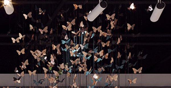 不锈钢蝴蝶空中吊饰装饰天花板艺术挂件