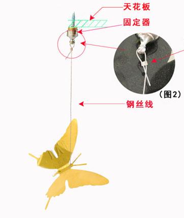 不锈钢蝴蝶安装说明如图1